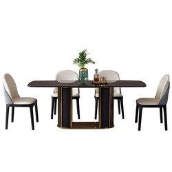 Nordic marmur stół prostokątny stół nowoczesny minimalistyczny nowoczesny luksusowy stół do jadalni