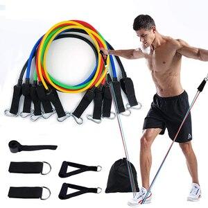 11 шт., резинки для йоги, уличные, для фитнеса, оборудование для пилатеса, спортивные, тренировочные, эластичные резинки