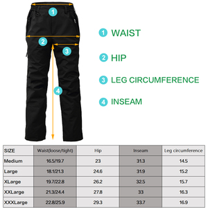 Image 2 - 8 Fans 2 ply Fishing Hiking Trawler Pant with Pockets Outdoor Quick Dry Breathable Trouser for Men & Women Waterproof Black
