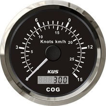 Auto-Trailer Speedometer Boat-Truck KUS 15knots 85MM Km/H New Car GPS Yacht COG Vessel