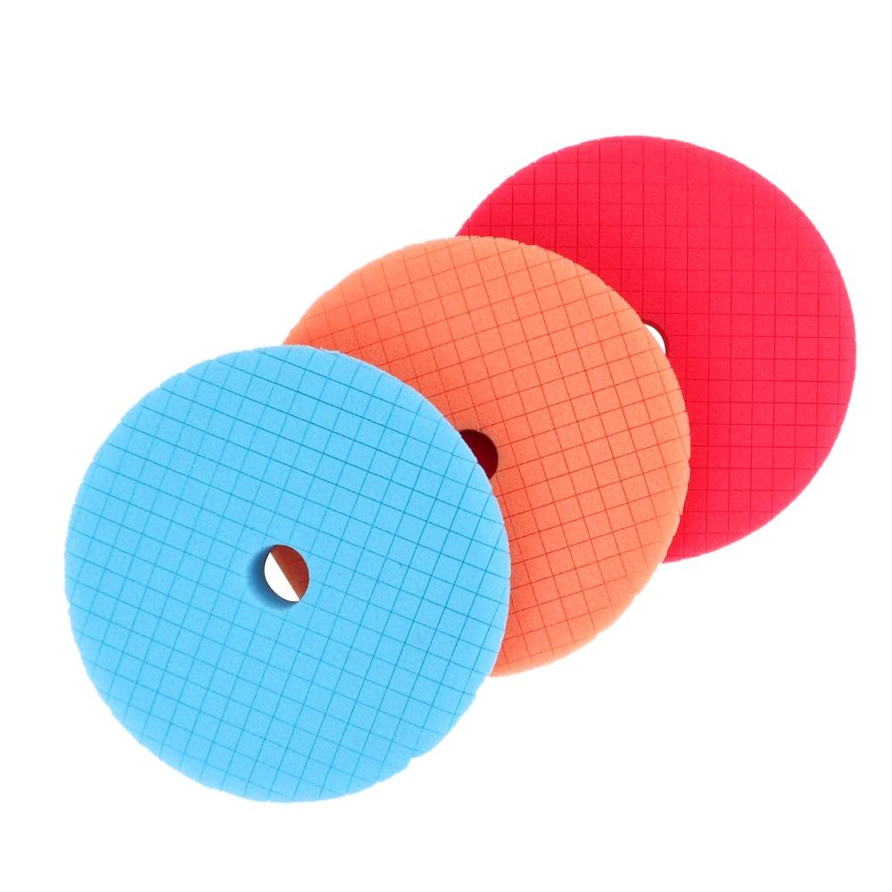 5 pecas set disco abrasivo esponja espuma almofadas carro polones polimento almofada chanfrada borda design disco