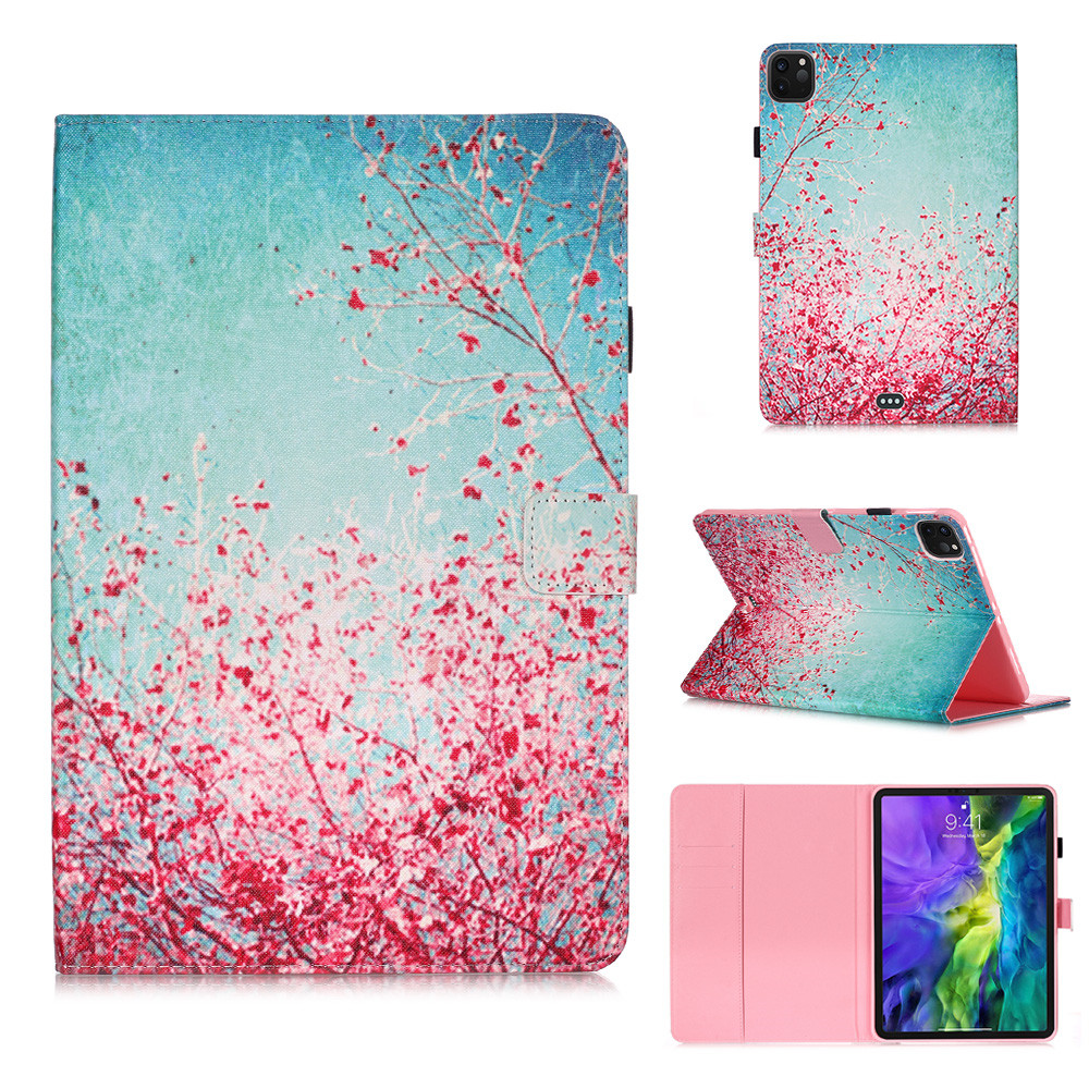 1 White Owl Flowers Tablet Cover For iPad Pro 11 Case 2020 Coque Wallet Stand Tablet Funda For