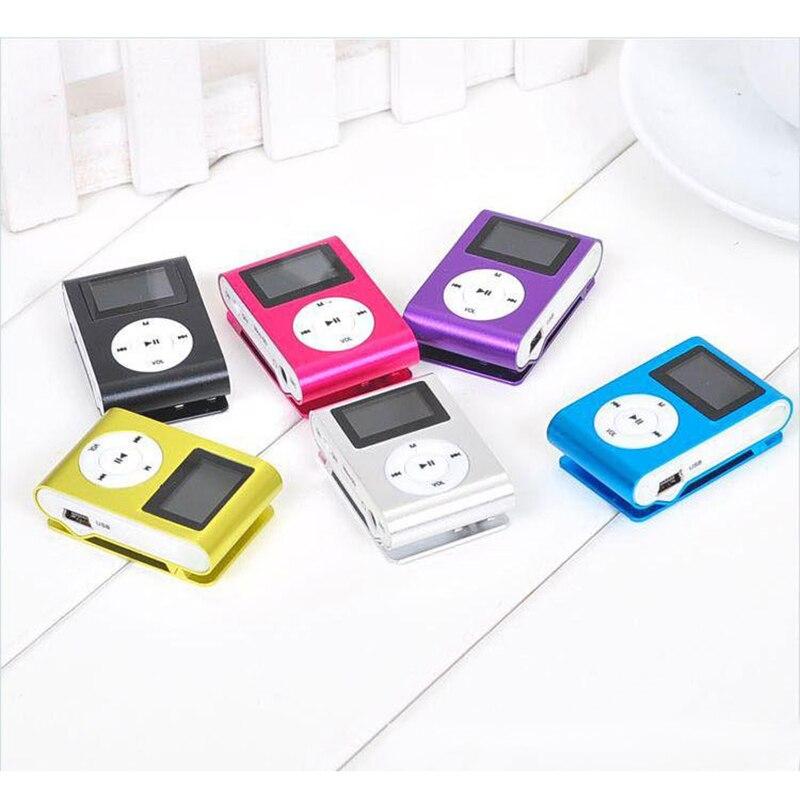 Портативный mp3-плеер с металлическим зажимом, мини-USB, цифровой музыкальный MP3-плеер с ЖК-экраном, поддержка 32 ГБ, слот для карты Micro SD TF