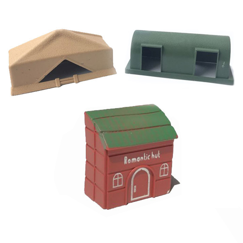 Static Model Military Model Military Command Barracks Single-sided Small House Jujube Red Room Accessories Toys Gxwj