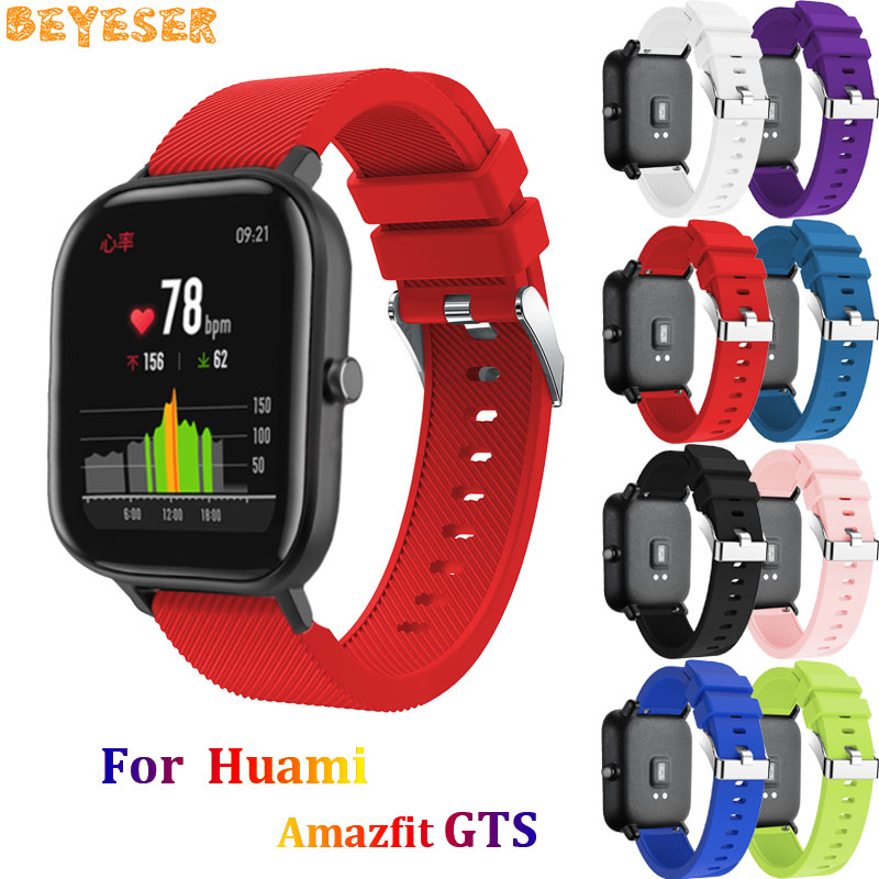 For Huami Amazfit GTS GTR 42mm Bip Pace Lite Silicone wrist band Smart accessories For Samsung Galaxy watch 42mm gear s2 strap
