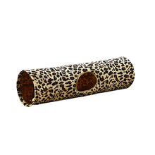 Funny tunnel for pets cat play brown  folding holes toys kitten toy in bulk rabbit leopard