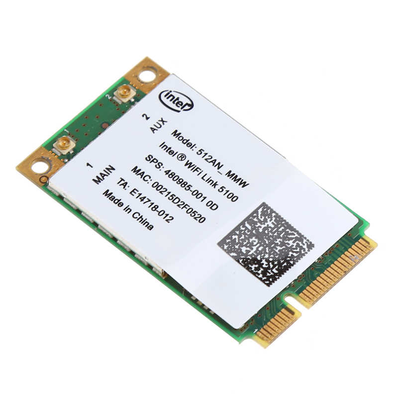 Enlace Intel 5100 WIFI 512AN_MMW 300M Mini PCI-E tarjeta WLAN inalámbrica 2,4/5 GHz