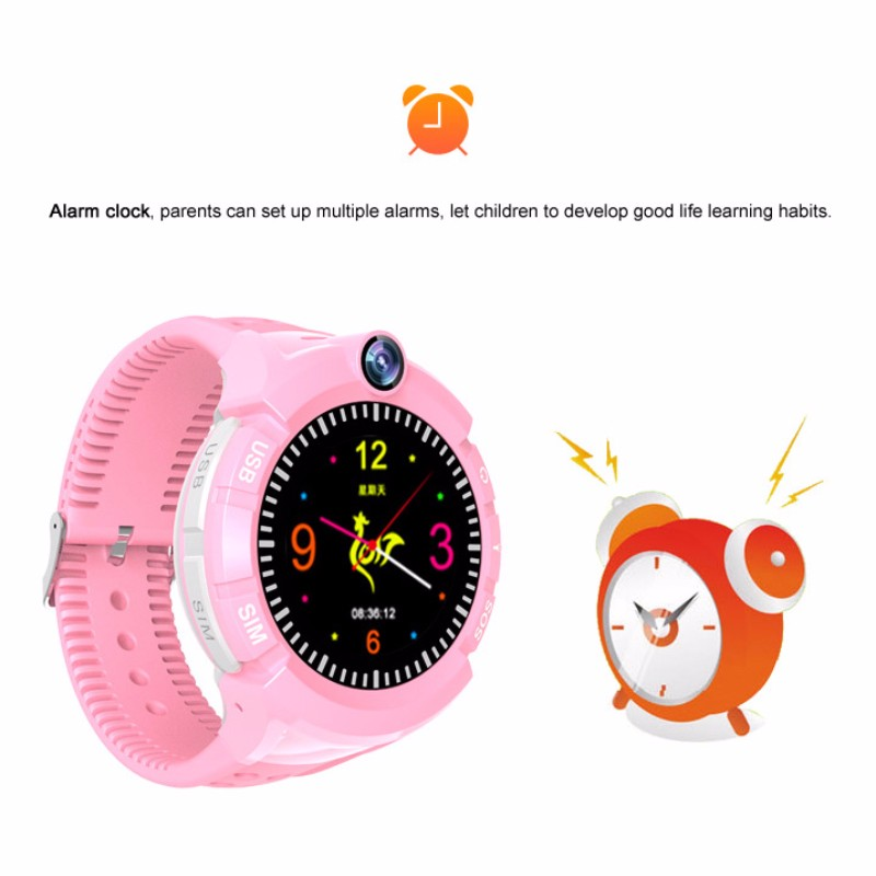 H09467e96b69a40aabf2b9dde791fe31d2 - New Smart watch Kid SmartWatches GPS Baby Watch for Children SOS Call Location Finder Locator Tracker Anti Lost Monitor