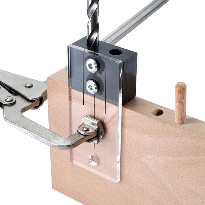 Dowel Jig Acrylic Hardened Steel Pocket Hole Jig 1/4 Inch Drill Guide Locator F12 20 Dropship