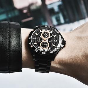 Image 5 - Benyarクォーツメンズ腕時計トップブランドの高級時計男性鋼防水スポーツメンズ腕時計クロノグラフレロジオmasculino 2019