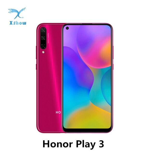 هاتف HONOR Play 3 المحمول honor play3 بشاشة 6.39 بوصة ومعالج Kirin710F ثماني النواة ونظام تشغيل أندرويد 9.0 مع خاصية فتح وجه وحدة معالجة الرسومات توربو 3.0