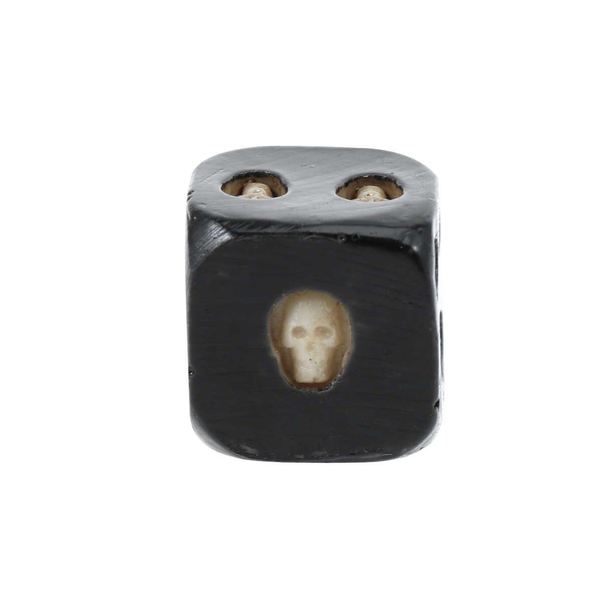 5pcs 18mm Dices ฮาโลวีนตลก 6 ด้าน Novelty Skull หัวรูปร่างลูกเต๋าสำหรับบาร์ Leisure PARTY เทศกาลเกม