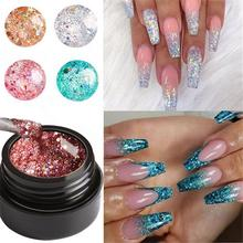 MeterMall 5ml Nail Art Shining Sparkling Super Glitter Platinum Gel Polish 1Box Faster Drying