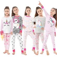 Baby Nightwear Pajamas-Sets Unicorn Children Sleepwear Full-Sleeve Cotton