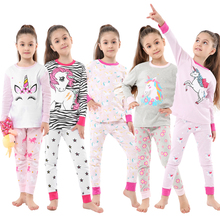Nightwear Pyjamas Unicorn Children Sleepwear Baby-Girls Full-Sleeve Cotton