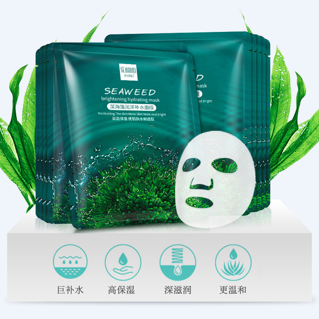 5PCS Seaweed Face Mask Algae Alginate Moisturizing Whiten Korean Facial Skin Care Shrinkage Pores Oil-control Beauty Masks 3