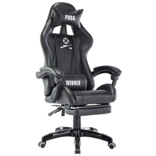 купить Ergonomic E-sports Gaming Chair Reclining Household PU Soft Computer Chair Lifted and Rotation Office Boss Chair with Footrest дешево