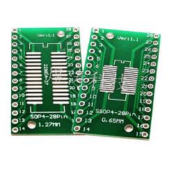 SOP28 адаптер пластина SSOP28 Go Dip TSSOP28 SOJ28 патч поворота прямой разъем Соединительная плата типа Dip