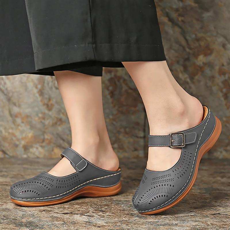 Women's shoes Summer Sandals For Women Shoes Soft gladiator sandals Retro Wedge platform Shoes Thick Bottom Ladies Sandals