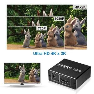 Image 5 - 2020 nuovo 4K 60Hz Splitter HDMI 2.0 HDMI 2.0 Splitter 1x2 Splitter HDMI 2.0 4K supporto HDCP 1.4 UHD Amplificatore Per PS4 Proiettore