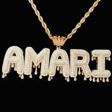 Подвески и ожерелья в стиле хип хоп под заказ с фианитами короной