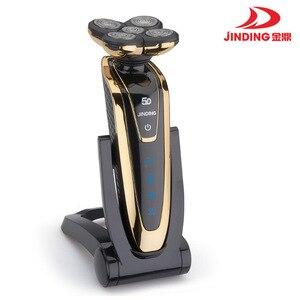 Image 3 - JINDING máquina de afeitar eléctrica recargable para todo el cuerpo, afeitadora con cabeza flotante 5D para hombre, Afeitadora eléctrica resistente al agua D40