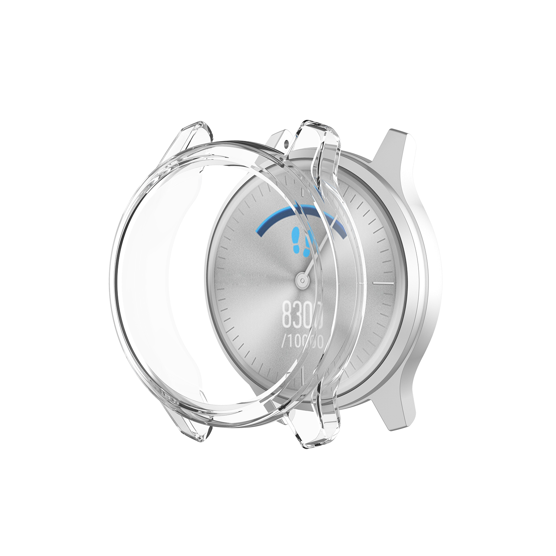BEHUA Ultra-Thin TPU Transparent Screen Protection Watch Case For Garmin Vivomove Luxe / Vivomove Style Clear Protector Cover
