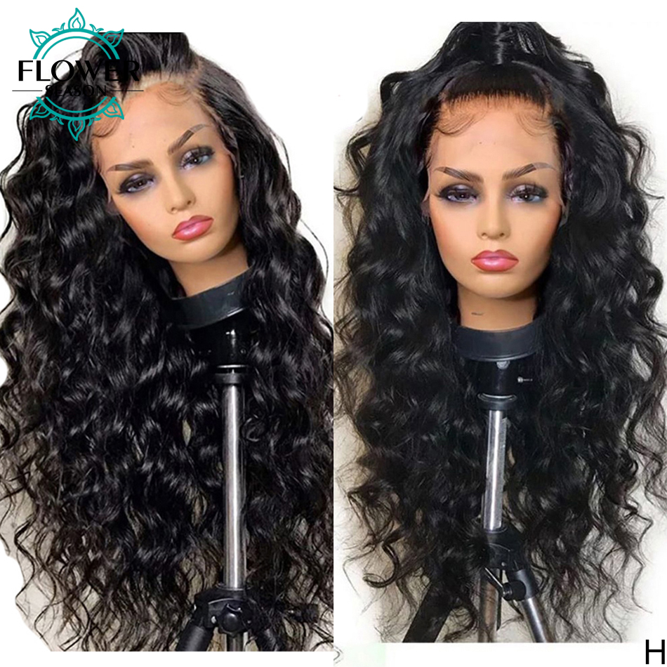 180 плотность, парик из человеческих волос без клея, волнистые передние парики на сетке, 13x4, бразильские человеческие волосы без повреждений, ...