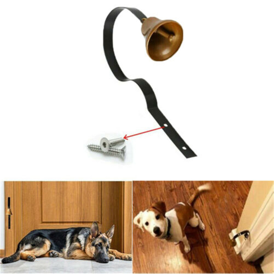 Puppy Smart Antique Christmas Tinkle Bells Wall Mounted Potty Training Anti-Grab Door Doorbells for Pet Dog Interactive Toys-5