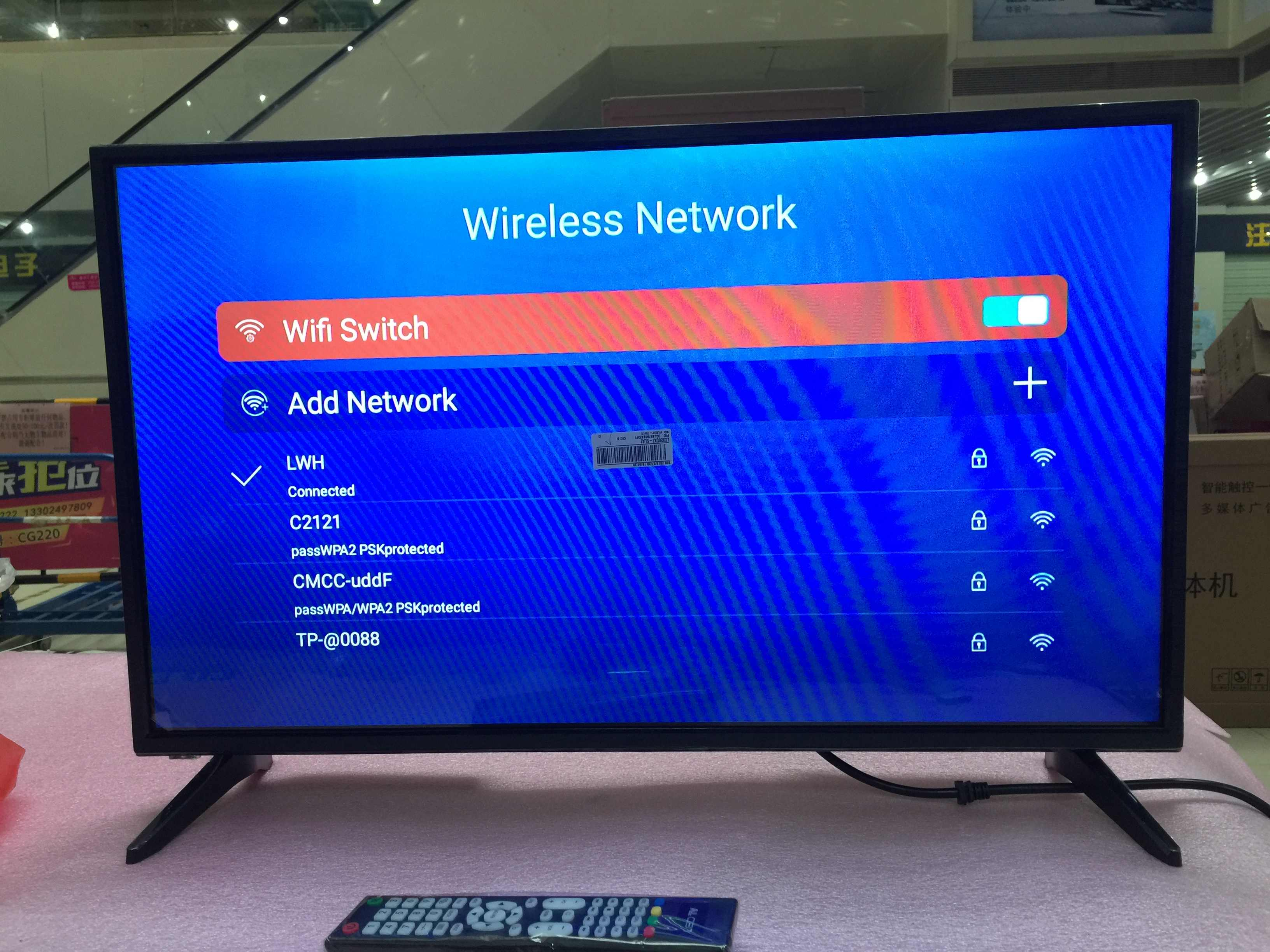 IpTV 32 inch Wifi Android OS 7.1.1 Ram 1GB ROM 4GB internet led televisie tv