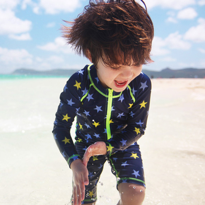 2018 New Style KID'S Swimwear Men And Women Children Siamese Swimsuit Children Diving Tour Bathing Suit Korean-style