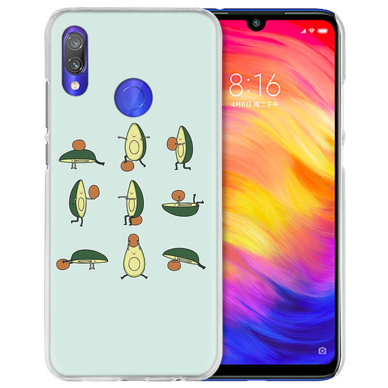 Image 2 - Case Cover for Xiaomi Redmi Note 7 7A 7S 6 6A 5 Y3 K20 Mi 8 9T CC9 CC9E A1 A2 A3 Play F1 Lite Pro Plus avocado yoga-in Half-wrapped Cases from Cellphones & Telecommunications