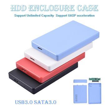 2.5inch SATA to USB HDD SSD Hard Disk Case Enclosure SATA USB3.0 USB2.0 Portable SSD Disk Box 5Gbps External Hard Disk Enclosure