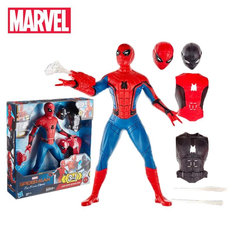 33 ซม.มหัศจรรย์ของเล่นอิเล็กทรอนิกส์ Avengers Spider man ไกลบ้าน PVC Action Figure 3 ใน 1Web เกียร์ Spiderman สะสมตุ๊กตา-ใน ฟิกเกอร์แอคชันและของเล่น จาก ของเล่นและงานอดิเรก บน   1