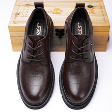 Men Shoes Wedding-Dress-Shoes Derbi Business Formal Black Genuine-Leather Luxury Brand