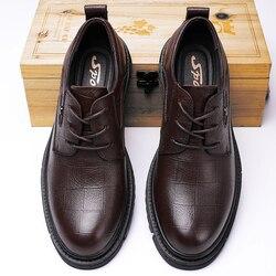 Derbi Business hommes chaussures noir en cuir véritable hommes chaussures de luxe marque hommes robe de mariée chaussures grande taille laçage formel chaussure homme