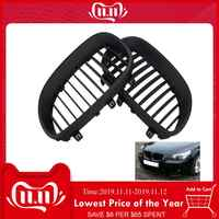 1 Pair Front Black Sport Wide Kidney Grilles Grill For E60 E61 M5 5 Series 2003-2009