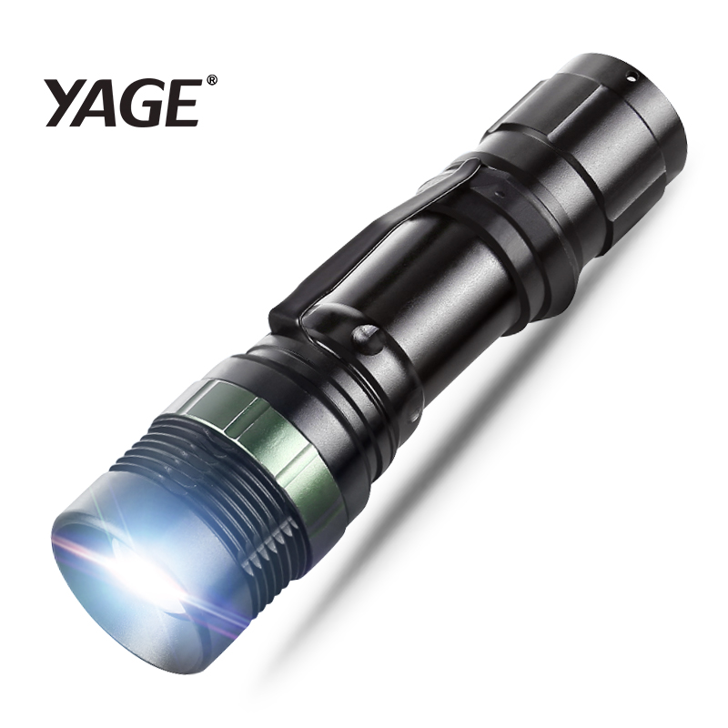 YAGE YG-338C Flashlight XP-G Torch Lamp CREE LED Flashlight Torch Light For 18650 Rechargeable Battery Or AAA Hand Lamp Lantern
