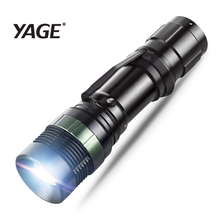YAGE YG-338C XM-E T6 2000LM Aluminum Waterproof Zoomable CREE LED Flashlight Torch Light for 18650 Rechargeable Battery or AAA usa eu hot e17 cree xml t6 led 2000lm aluminum zoomable flashlights torches lamplight for 18650 rechargeable or aaa battery