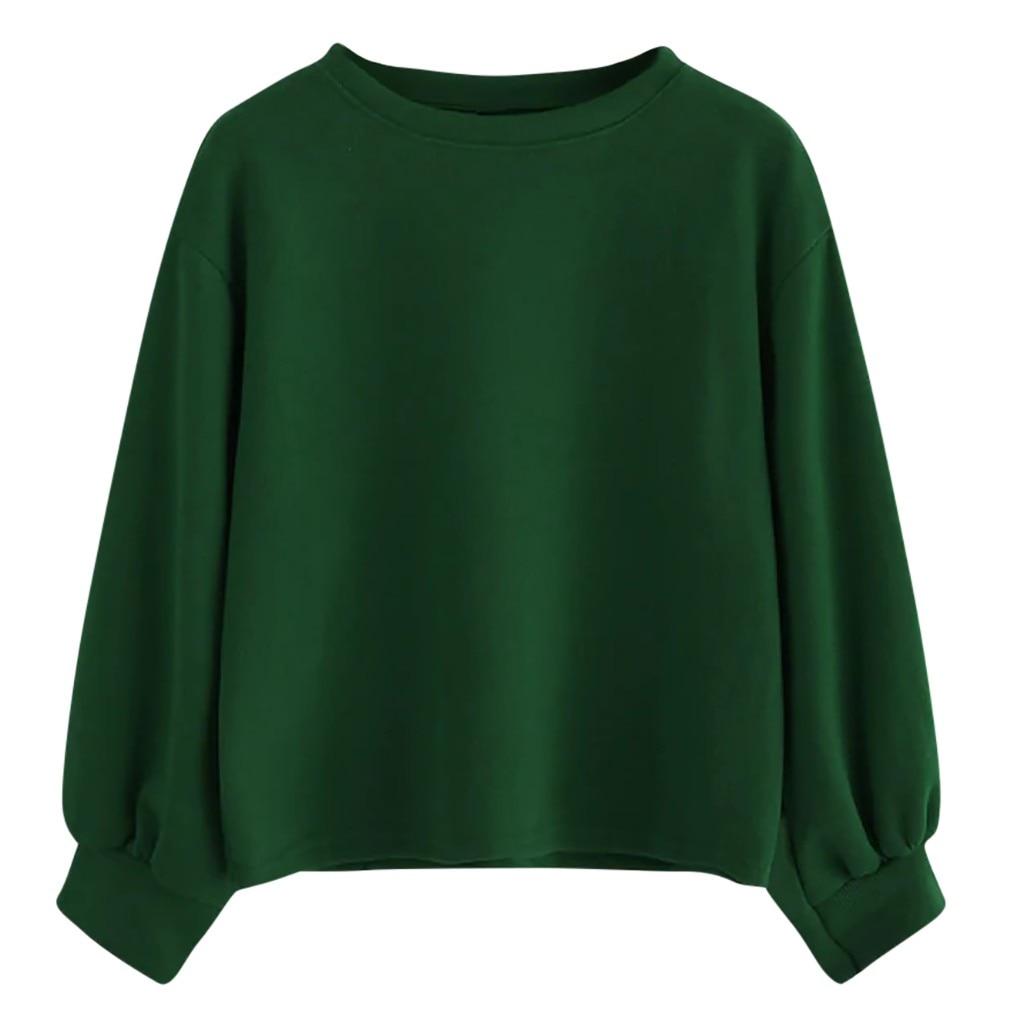 Fashion Women Hooded Sweatshirts Casual O-Neck Solid Long Sleeve Blouse Loose Sweatershirt Tops Female Warm Winter Blouse