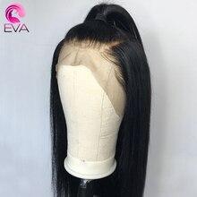 Парики из ЕВА с прямыми натуральными волосами спереди, предварительно выщипанные Детские волосы, бесклеевые передние парики на сетке для черных женщин, бразильские волосы без повреждений