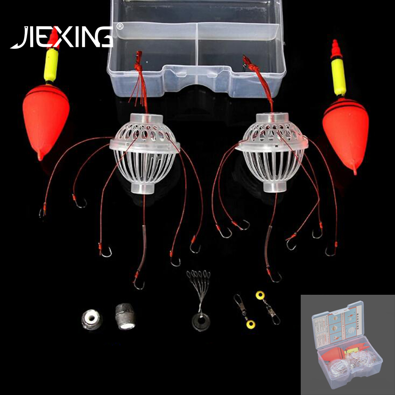 4pcs Fluorescent Explosive Fishing Hook Barbed Durable Hooks with box 6-13# Hook