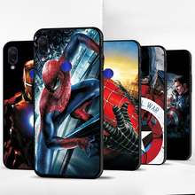 For Xiaomi Redmi Note 7 Case Note 5 6 7 8 Pro Note 8T Spiderman Black TPU Phone Case For Redmi Note 6 Pro Cover Redmi Note 4 4X cheap adlucky Quotes Messages Matte Plain Animal cartoon Fitted Case The Avengers Iron Man Captain America Spiderman Deadpool