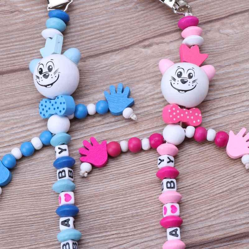 Bırak gemi bebek emzik klip zinciri bebek erkek kız harfleri oyuncaklar diş kaşıyıcı emzik zinciri tutucu bebek meme besleme