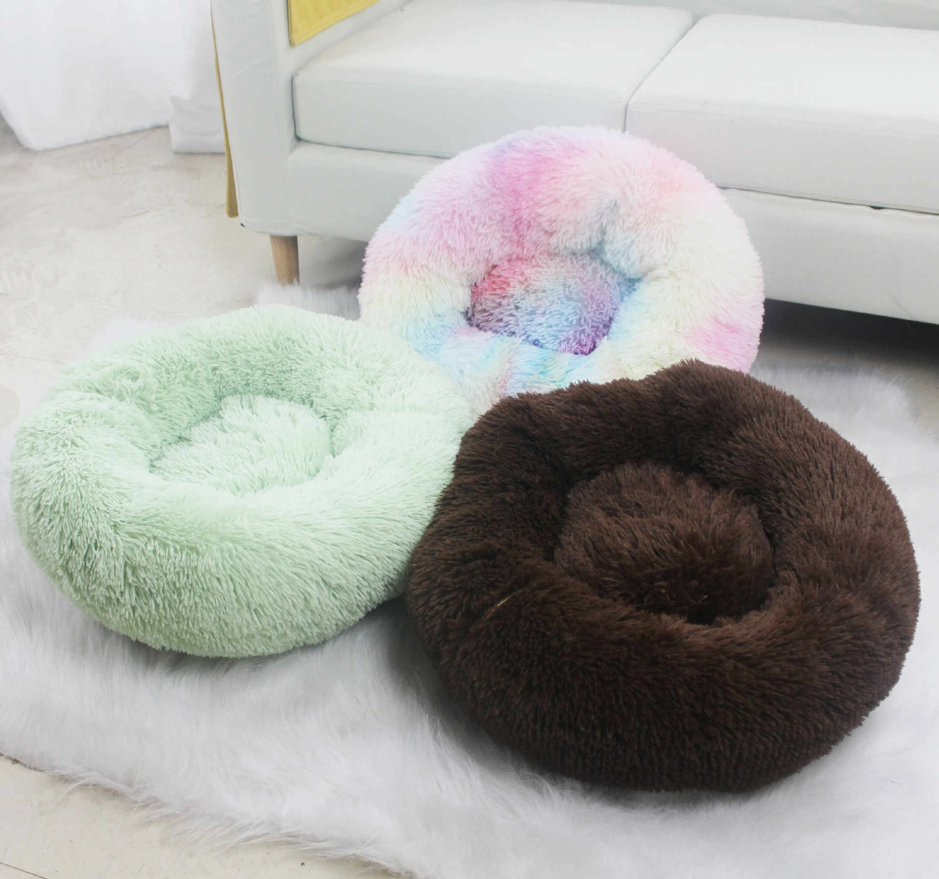 Picture of: Soft Warm Round Pet Cat Bed Comfortable Pet Nest Dog Cat Use All Year Suitable For Small Medium And Large Cats And Dogs Houses Kennels Pens Aliexpress