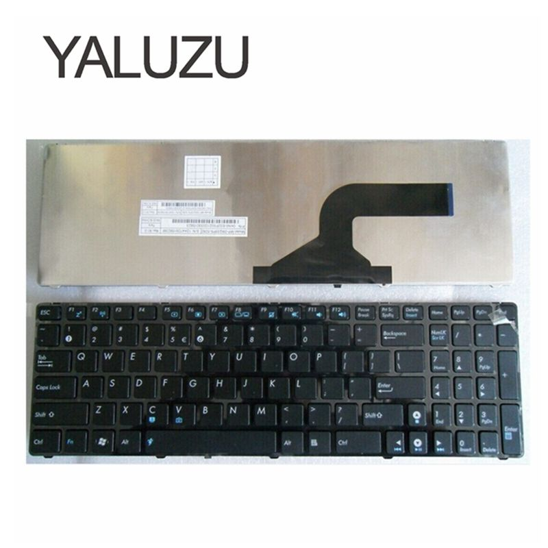 YALUZU New US Keyboard For ASUS K53 K53E X52 X52F X52J X52JR X55 X55A X55C X55U K73 K73B K73E K73S X61 NJ2 Laptop Keyboard BLACK