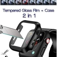 360 full Screen protector Bumper Frame matte hard Case for Apple watch 6/SE/5/4/3/2/1