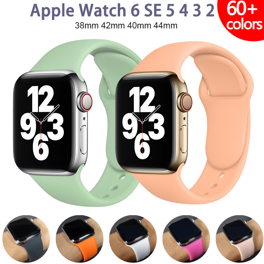 Silicone Strap For Apple Watch band 45mm 41mm Series 7 44mm 40mm 38mm 42mm Smartwatch Sports watchband Bracelet iWatch 3 5 6 SE