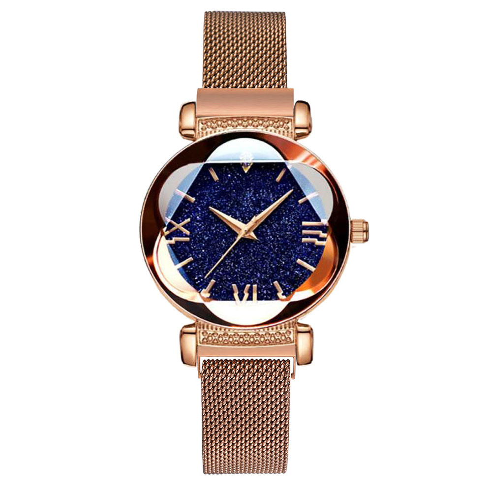 Luxury Rose Gold Women Watches Fashion Diamond Ladies Starry Sky Magnet Watch Waterproof Female Wristwatch For Gift Clock 2020
