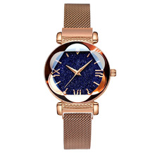 Luxury Rose Gold Women Watches Fashion Diamond Ladies Starry